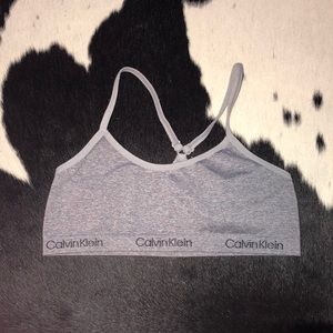 Calvin Klein gray halter sports bra xxs fit